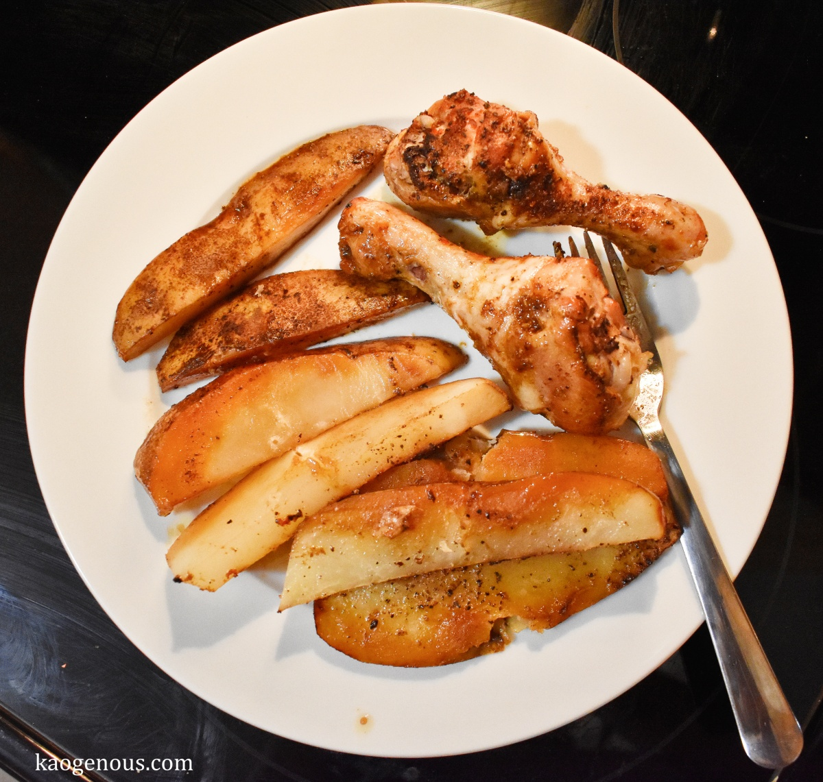 Soy Sauce Chicken Drumsticks and Potatoes… and Wine