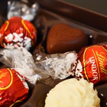 lindt chocolate box closeup
