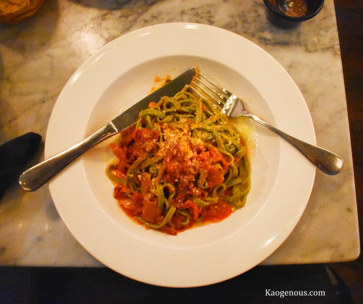 linguine spinach pasta dal cuore jersey city